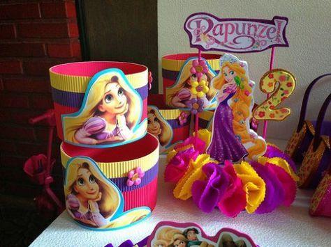 Ideas e Imágenes de Dulceros de Rapunzel para Fiestas Infantiles