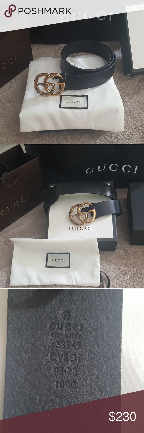 Brand new Gucci belt black Brand new Leather belt with double G buckle with snake comes with box and dust bag Gucci Accessories Belts