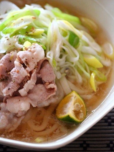 ネギ豚しゃぶしゃぶうどん Green Onion Pork Shabu Udon