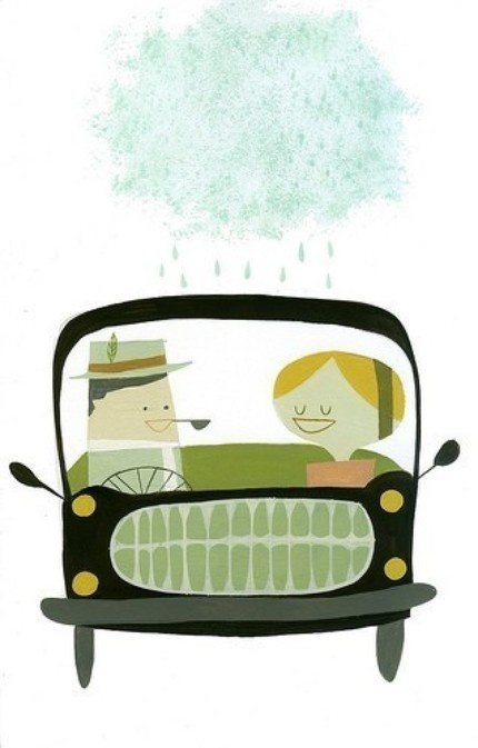 Matte Stephens Driving in Europe print.