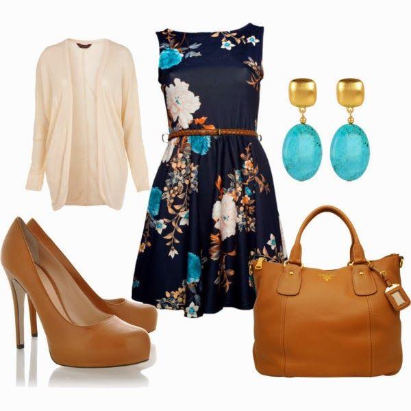 Spring Outfits | Dress It Up  Black Oriental dress, Cream Jacquard cardigan, DOLCE & GABBANA shoes, PRADA bag, Kenneth Jay Lane earrings  by beckyking