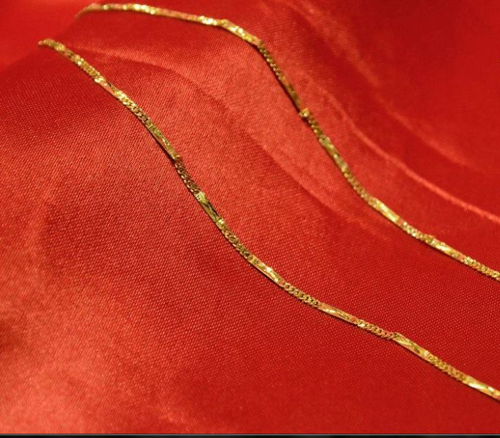Chain made for man with 24 K gold.