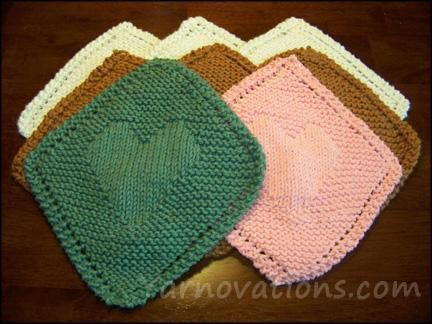 148 Best Dishcloth Patterns Hearts Images On Pinterest Knits