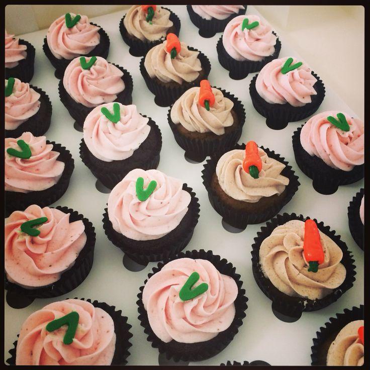 Vegan Carrot Cakes & Choc Strawberry