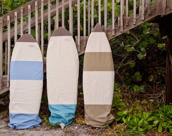CUSTOM Canvas Surfboard Bag Surf Short Board by theAtlanticOcean