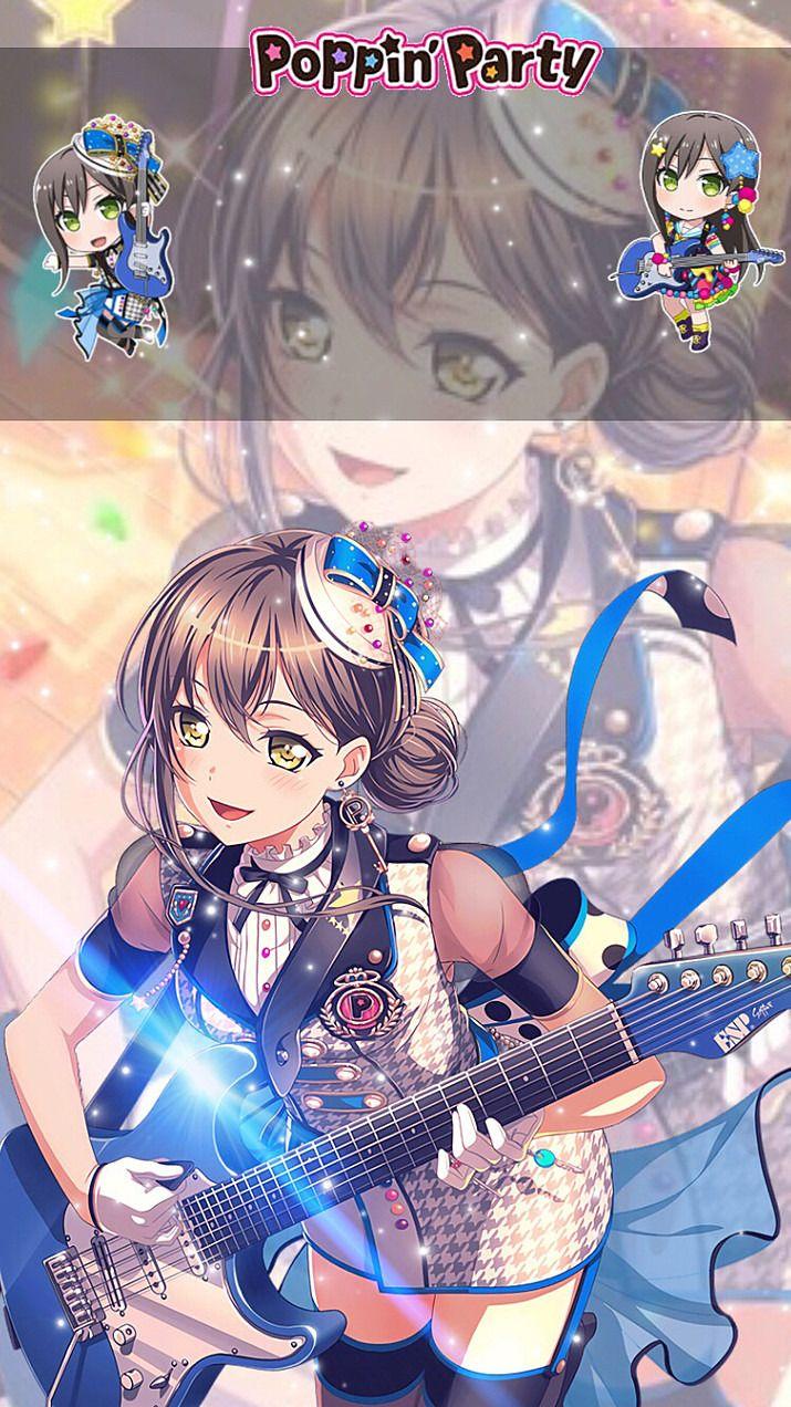 バンドリ ロック画面 クールなアニメの女の子 バンドリ イラスト
