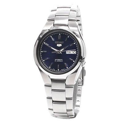 Seiko 5 Automatic Mens Analog Watch Business Silver Band SNK603K1