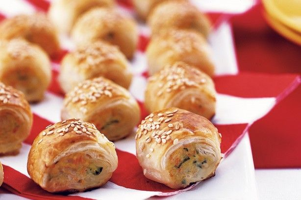 Chicken mince, lots of vegies and fresh herbs make these sausage rolls something special.