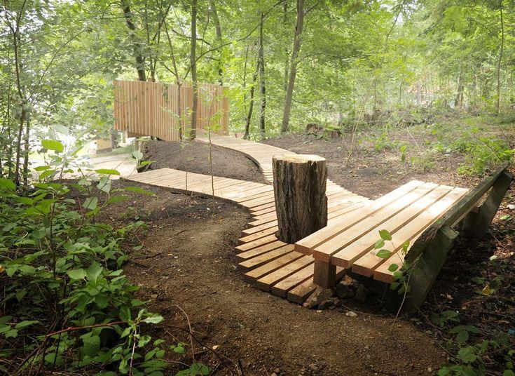 Cena v kategorii Architektonický design, drobná architektura, výtvarné dílo - lesopark V Zátiší ve Vodňanech