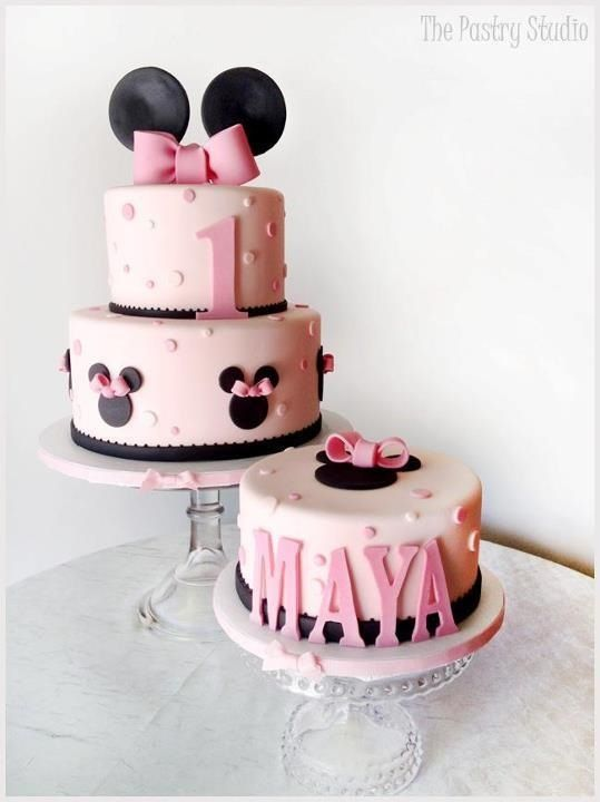 Minnie Mouse tiered cake - The Pastry Studio on facebook