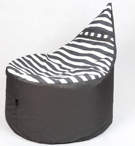 Comfortable bean bag chair / pouf adult size by RedPointdesign