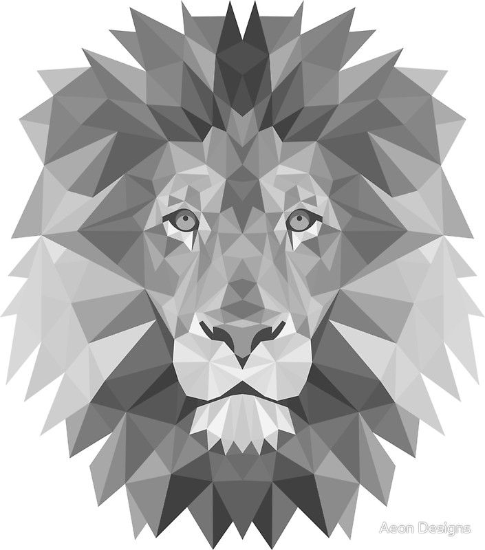 Geometric+Lion+in+B
