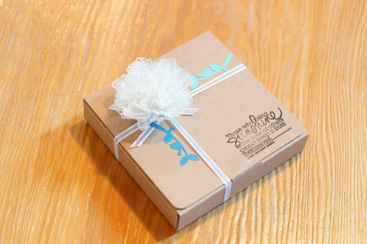 STUDIO H ART: Gift Box Wrapping idea using a Doily Die
