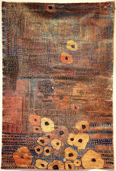 Boutons D'Or (Marigolds) by Huguette Caland. Mixed media on linen