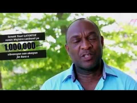 Haiti news - Senatè Youri LATORTUE remèt Majistra Latibonit yo 1,000,000 goud sibvansyon nan okazyon fèt Rara