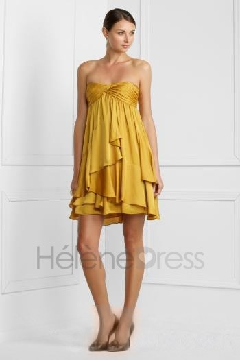 Adorable A-Line Short/Mini-Length Strapless Tiered Cocktail Dress - Cocktail Dresses - Special Occasion Dresses