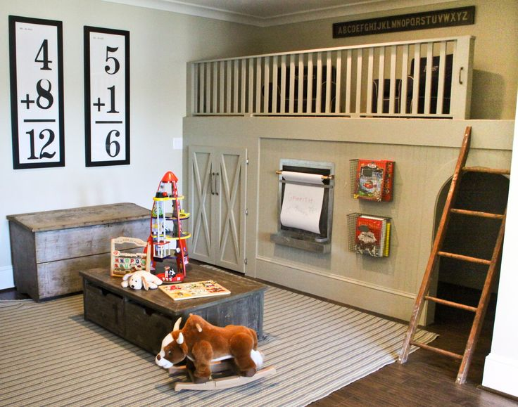 a loft in the playroom... man I would have loved to have had this when I was little!!