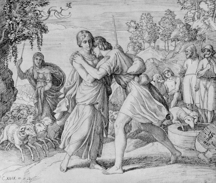 Jakob und Rahel (Jacob and Rachel), by Julius Schnorr von Carolsfeld