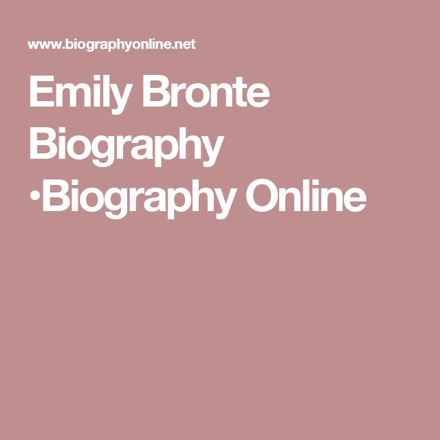 Emily Bronte Biography •Biography Online