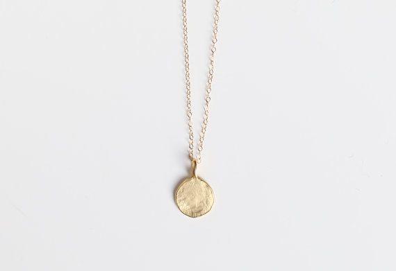 Un altro amore / collana oro oro martellato di BohoStonesJewellery