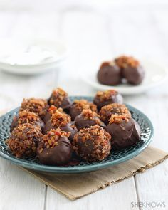 Bacon Chipotle Chocolate Truffles - Sweet, Spicy & Savory. It's a party on your tongue and still low carb!