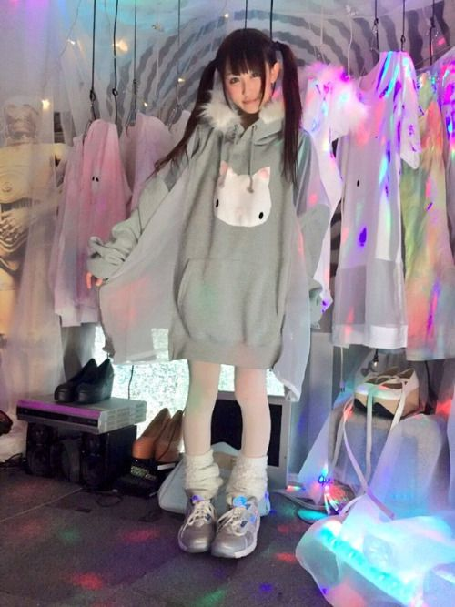 Super cute oversized cat parka from the Wagado... | Tokyo Fashion