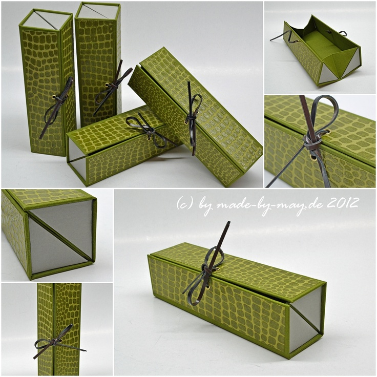Made-by-May.de  Grünes StifteEtui. Love this #handmade #packaging PD