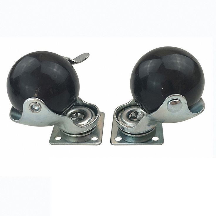 50MM Black Ball Shaped Caster 2-inch Universal Sofa Wheel Furniture Accessories Platform Trolley Wheels High Bearing Capacity