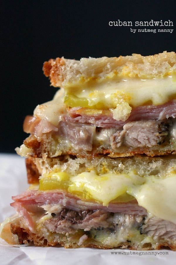 Cuban sandwich with roasted ham and cheese for 2014 Thanksgiving #2014 #Thanksgiving
