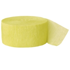 Crepe Streamers 81' Canary Yellow