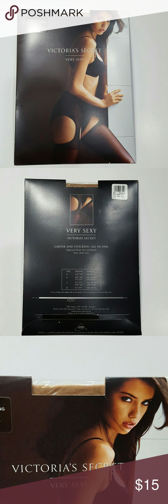 Victoria's Secret Garter Stockings Glamour Lace Garter Stockings, Nude color, Size B Victoria's Secret Intimates & Sleepwear Shapewear