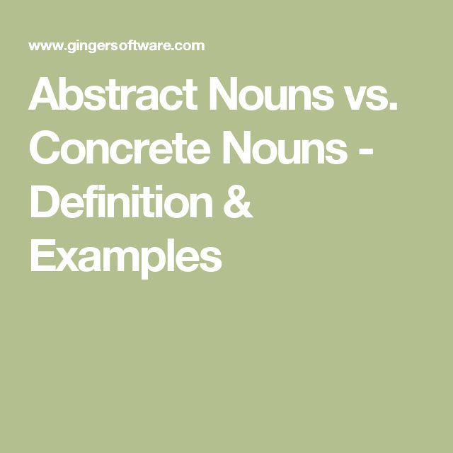 abstract vs concrete writing activities