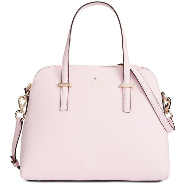 kate spade new york Cedar Street Maise Convertible Crossbody ($298) ❤ liked on Polyvore featuring bags, handbags, shoulder bags, pink blush, pink purse, crossbody shoulder bags, pink leather purse, leather handbags and leather cross body purse