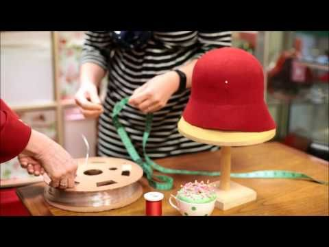 How to make a 1920's Wool Felt Cloche Hat - Adrienne Henry Millinery workshop - https://www.youtube.com/watch?v=Cve3d20i8kk