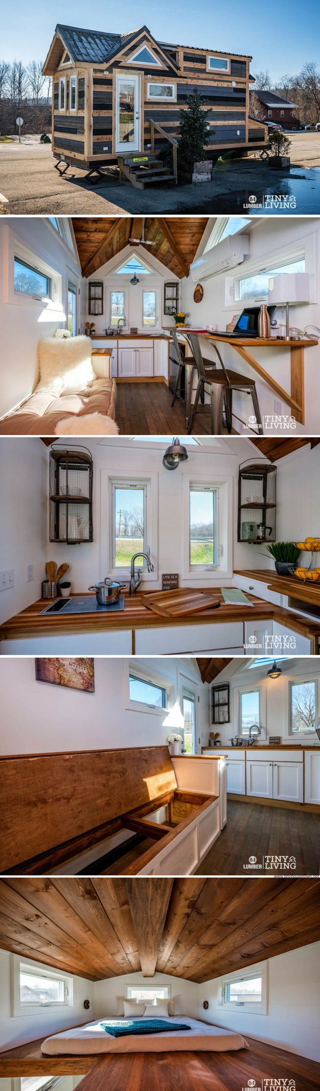 The Countryside tiny house from 84 Lumber's line of tiny homes
