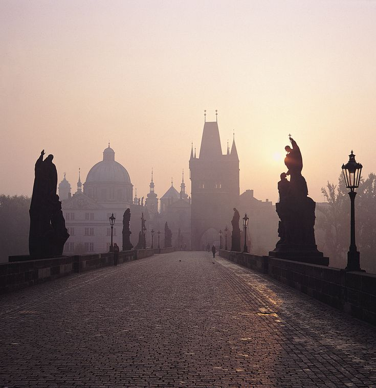 Prague ~Charles Bridge; early morning