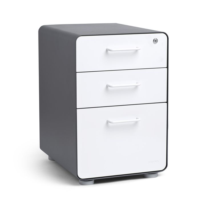 Inspirational Black West 18th 3 Drawer File Cabinet with Rounded Corners