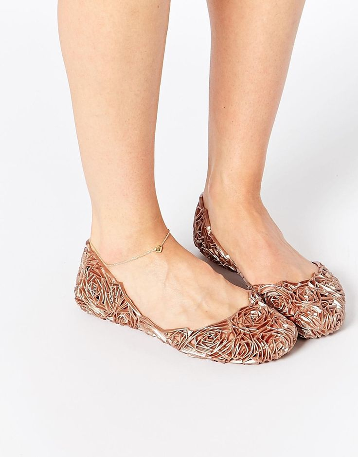 Melissa and campana fitas rosegold flat shoes wish list for Scarpe melissa campana