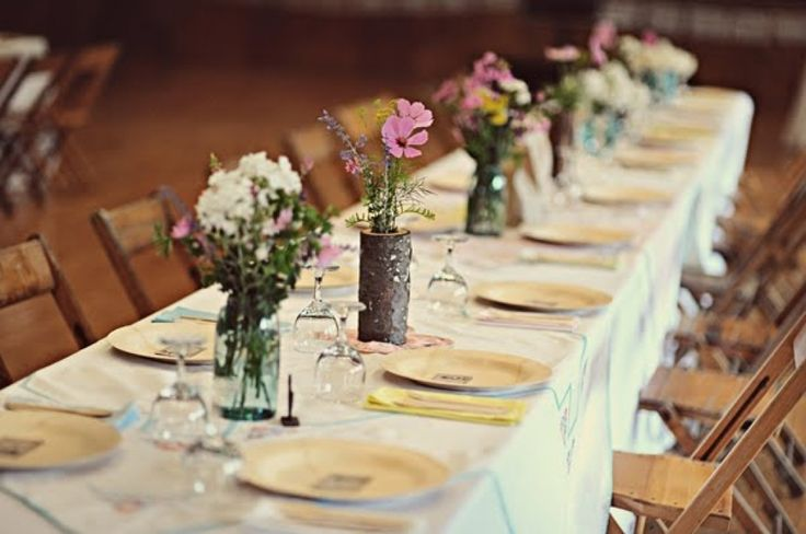 Cheap wedding reception table ideas wedding decoration Cheap table decoration ideas
