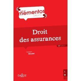 DROIT DES ASSURANCES de Hubert Groutel. Cette nouvelle édition propose une vue d'ensemble de l'assurance telle qu'elle est pratiquée en France, sous l'influence toujours grandissante du droit européen. L'ouvrage aborde en premier lieu, l'opération d'assurance, puis l'activité d'assurance, ou les règles de la profession, enfin, la relation d'assurance, qui permet de voir le contrat, la survenue du sinistre couvert et le contentieux éventuel. Cote : 3-35 GRO