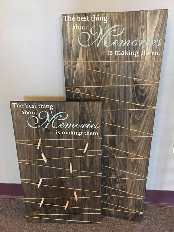 Making Memories Wooden Sign Picture Board With Clips