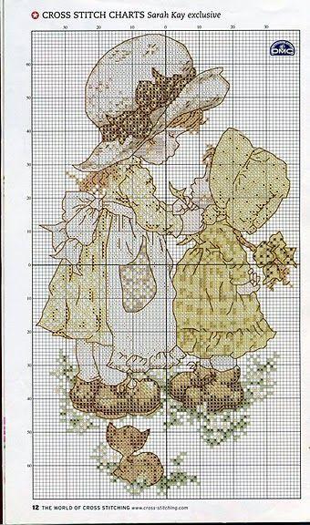 Gráfico para ponto cruz da Sarah Kay
