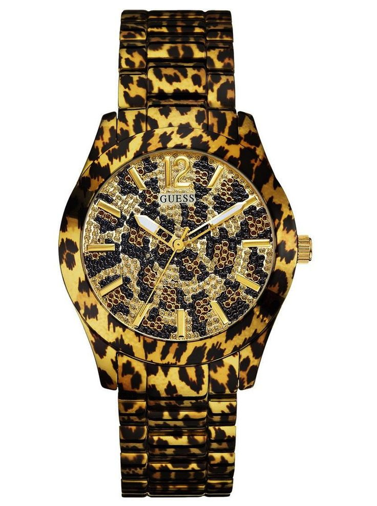 Leopard printed Guess ladies' watch.  € 200,- for €99. See more at - http://www.megawatchoutlet.com/dames/guess.html