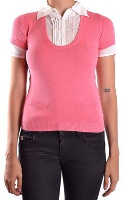 DSQUARED2 Women's White/pink Cotton Polo Shirt.