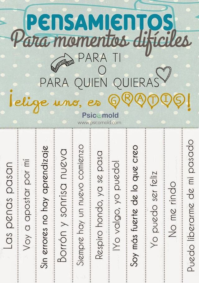 Growth mindset, Take one poster, para momentos dificiles