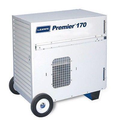 LB White Premier 170DF Dual Fuel Ductable Tent/Construction Heater, NG or LP