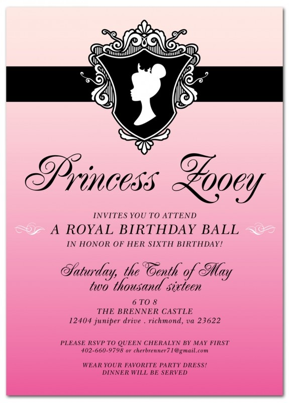 27 best djs 9th birthdayyal ball images on pinterest royal ball kids birthday party invitation stopboris Image collections