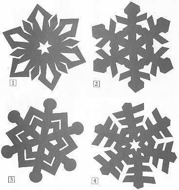 Snowflake Patterns To Cut Out | Kirigami is the Japanese art of folding and then cutting paper.