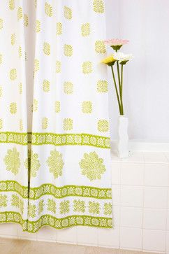Sage Green Shower Curtains - tropical - bath products - other metro - Attiser