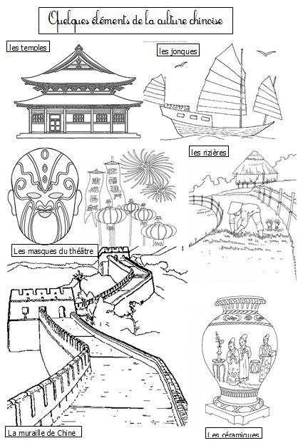 La chine dix mois coloriages l ments culturels proyecto china nouvel an chinois - Coloriage de chine ...